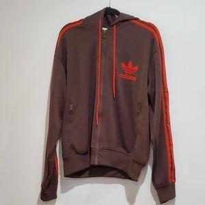 Adidas Mens orange and brown 3 stripe large